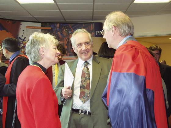 Former Vice Chancellor and Mrs Ebsworth